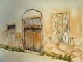 vieille porte- fran�oise-aquarelle